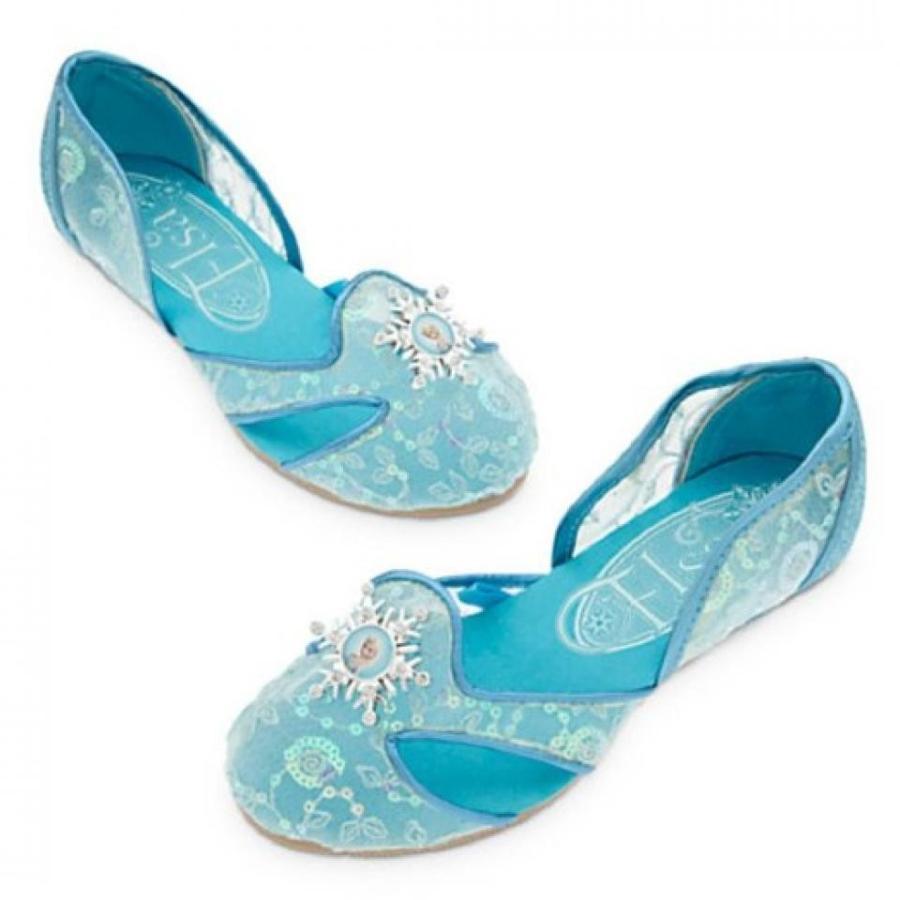 アナと雪の女王 おもちゃ フィギュア Disney - Frozen 2015 Elsa Shoes for Girls - 青 - Size 9/10 - NEW 輸入品