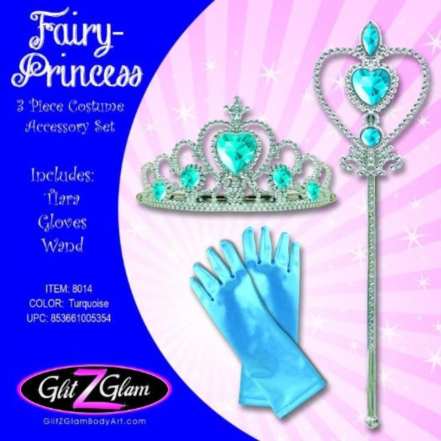 アナと雪の女王 おもちゃ フィギュア Fairy Costume /Princess Costume 3-Piece Accessory Set - Frozen inspi赤 Turquoise 輸入品