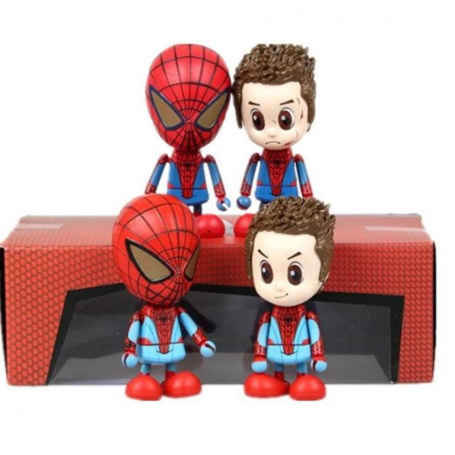 アベンジャーズ おもちゃ フィギュア Amazing Spider-man 2 Pack of 4, 4-inch / PVC (Boxed) 輸入品