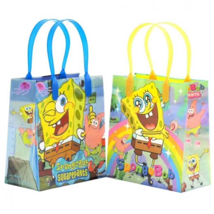 アナと雪の女王 おもちゃ フィギュア Spongebob Squarepants Reusable Party Favor Goodie Small Gift Bags 12 (12 Bags) 輸入品