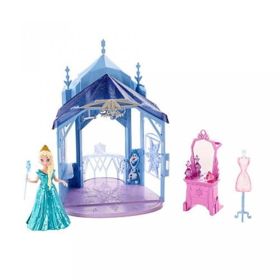 アナと雪の女王 おもちゃ フィギュア Disney Frozen MagiClip Flip N Switch Castle and Elsa Doll 輸入品