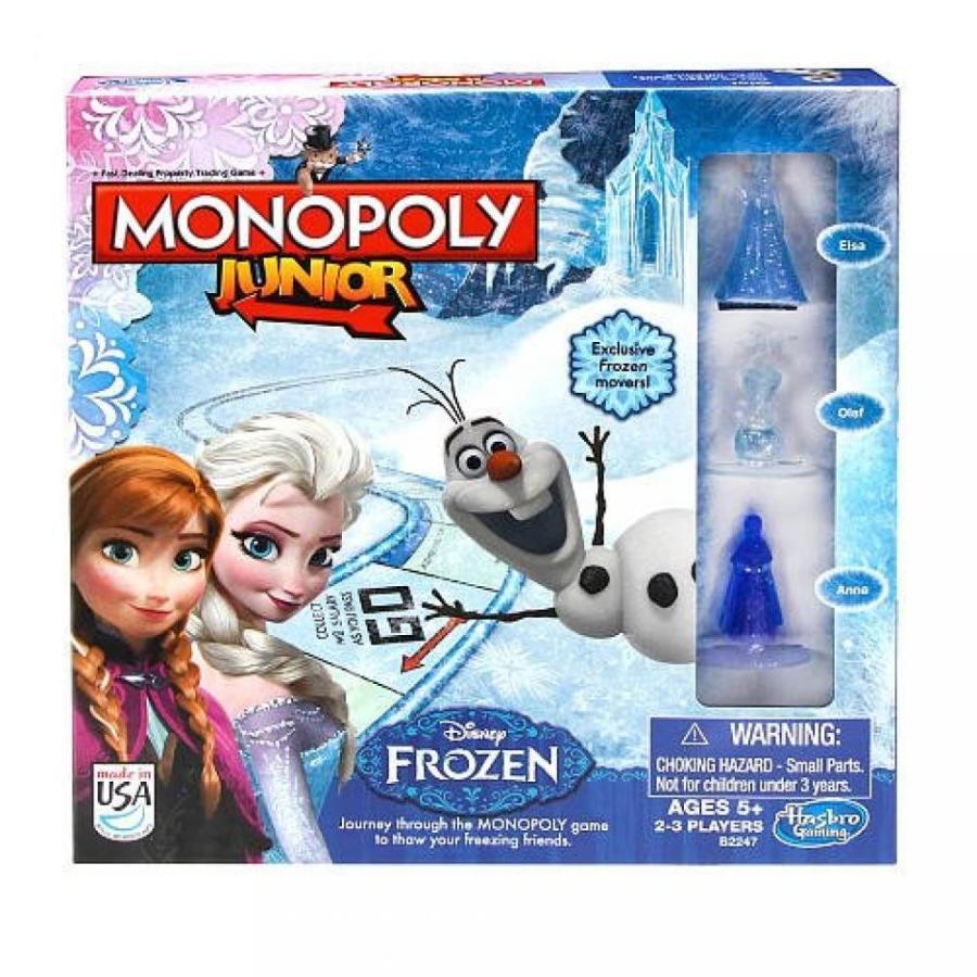 アナと雪の女王 おもちゃ フィギュア Monopoly Junior Game Frozen Edition 輸入品