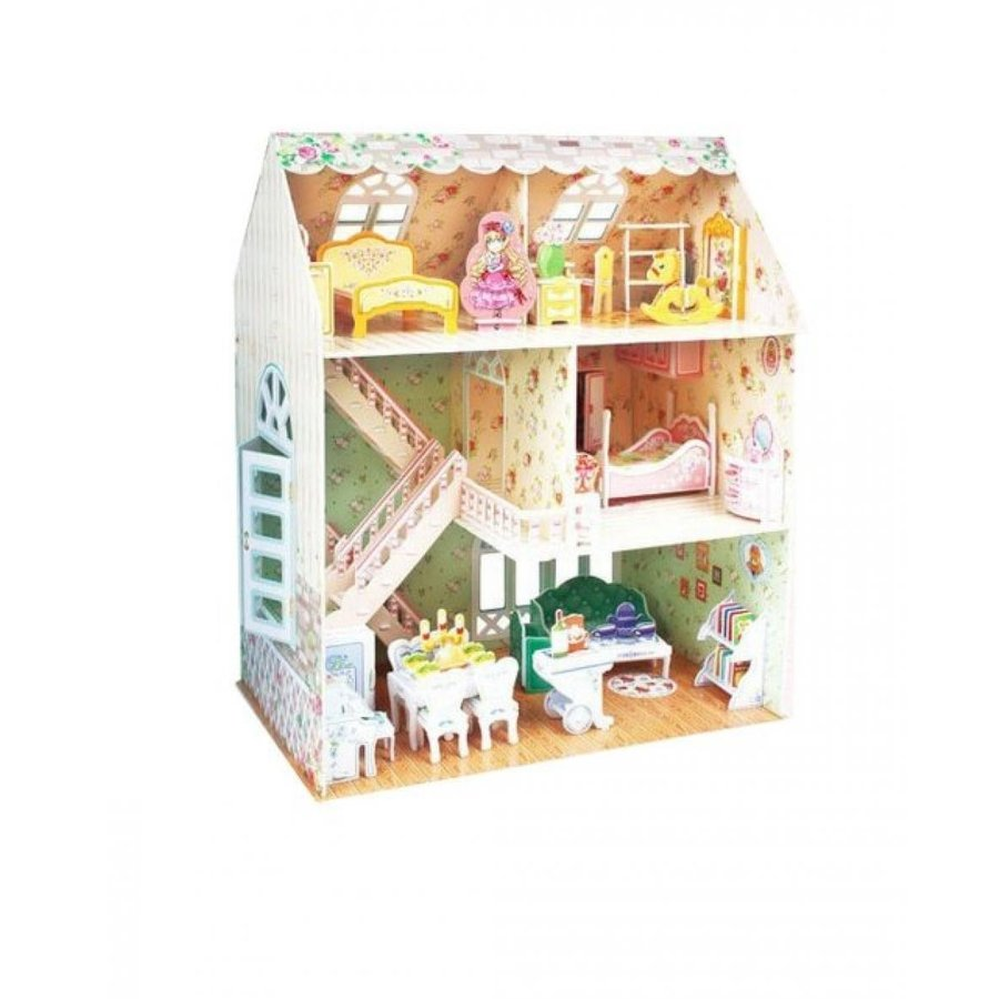 バービー人形 おもちゃ 着せ替え Girl's House Three-Dimensional House Of Manual Assembly Paper Model 輸入品