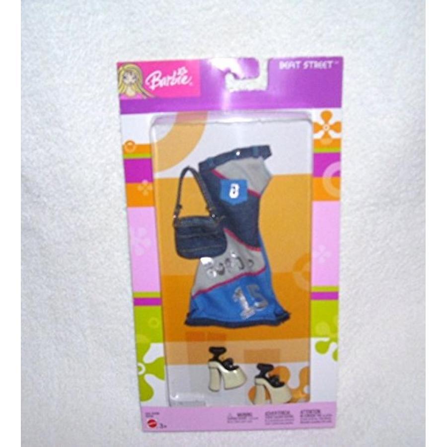 バービー人形 着せ替え おもちゃ Barbie Beat Street DENIM Dress Fashion Outfit with Purse and Shoes 2003 輸入品