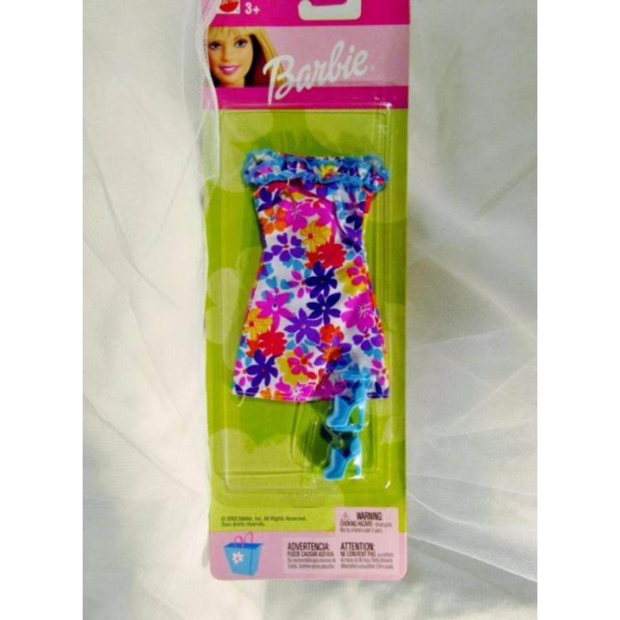 バービー人形 着せ替え おもちゃ 2002 Barbie Floral Summer Dress & Shoes 輸入品