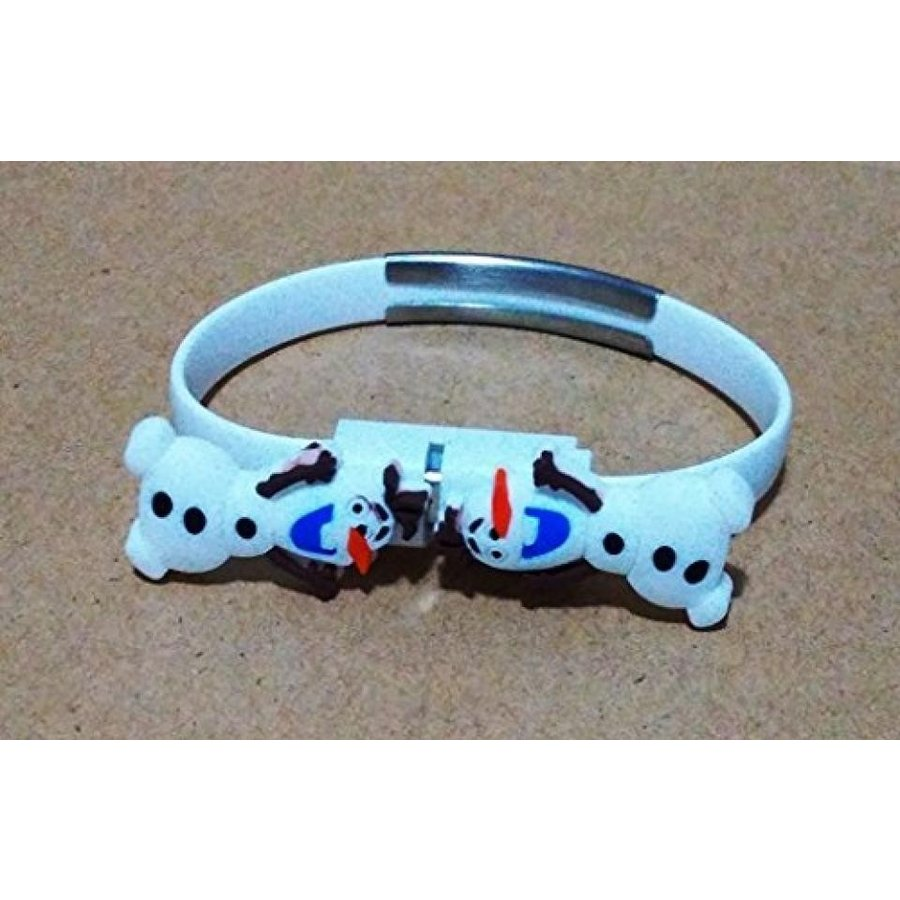 アナと雪の女王 おもちゃ フィギュア CJB Frozen Olaf Micro USB Charger Cable Bracelet for Sam