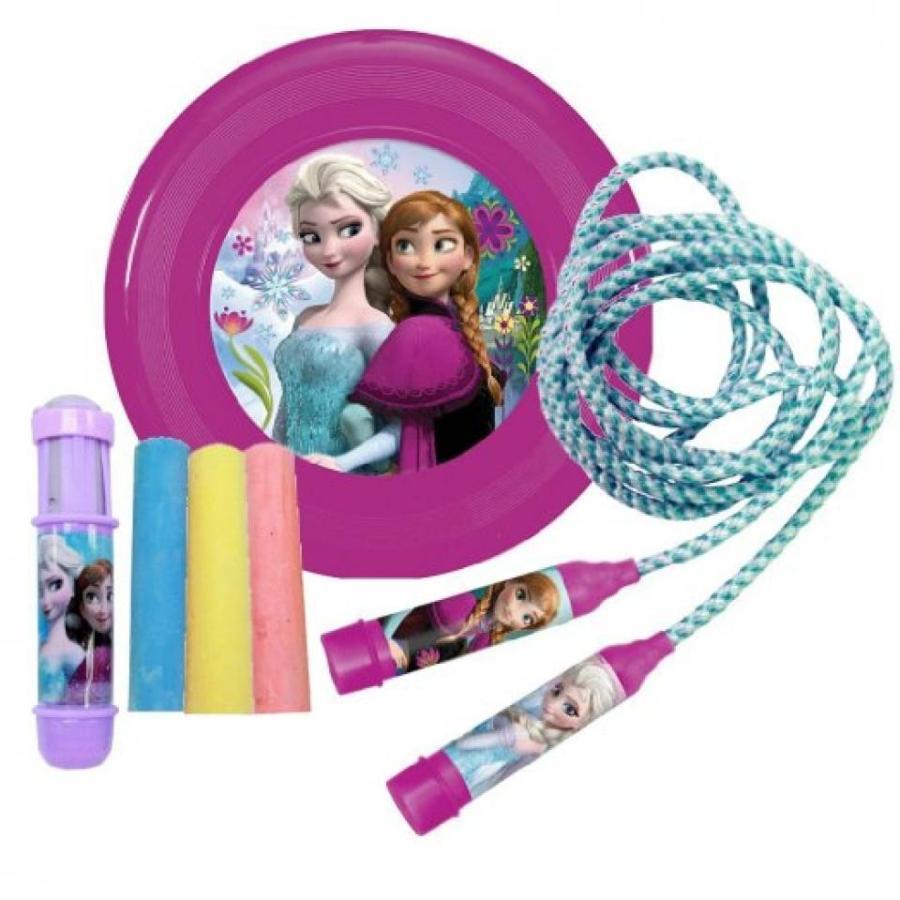 アナと雪の女王 おもちゃ フィギュア Frozen Summer Activities Outdoor Toy Bundle Jump Rope, F