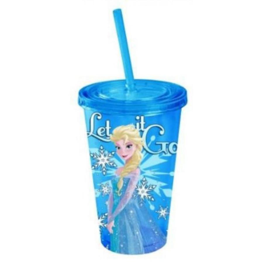 アナと雪の女王 おもちゃ フィギュア Disney (Elsa Snowburst) BPA-Free Plastic 16 Oz. Cold Cup