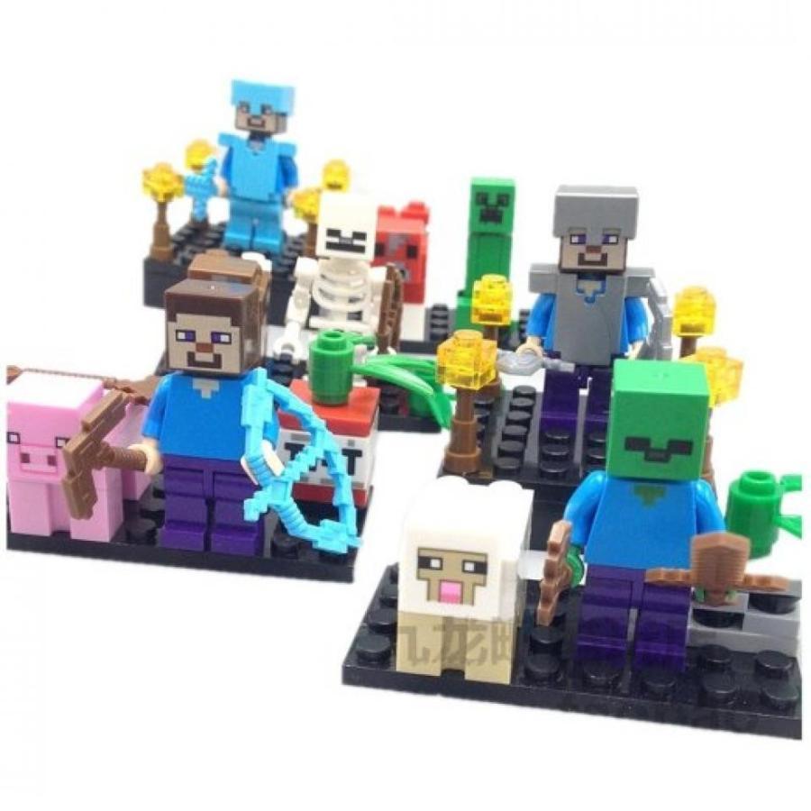 アナと雪の女王 おもちゃ フィギュア Smilette Minecraft Assembly Blocks Toys Plastic Pack of 6 - Boxed 輸入品