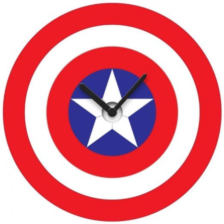 アベンジャーズ おもちゃ フィギュア Marvel Comics Captain America's Shield Wobble Clock (with Gift Box) 輸入品
