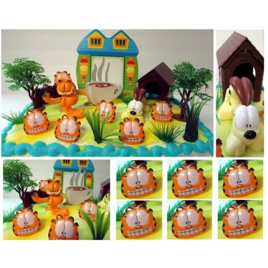 アナと雪の女王 おもちゃ フィギュア GARFIELD THE CAT 18 Piece Birthday Cake Topper Set Featu
