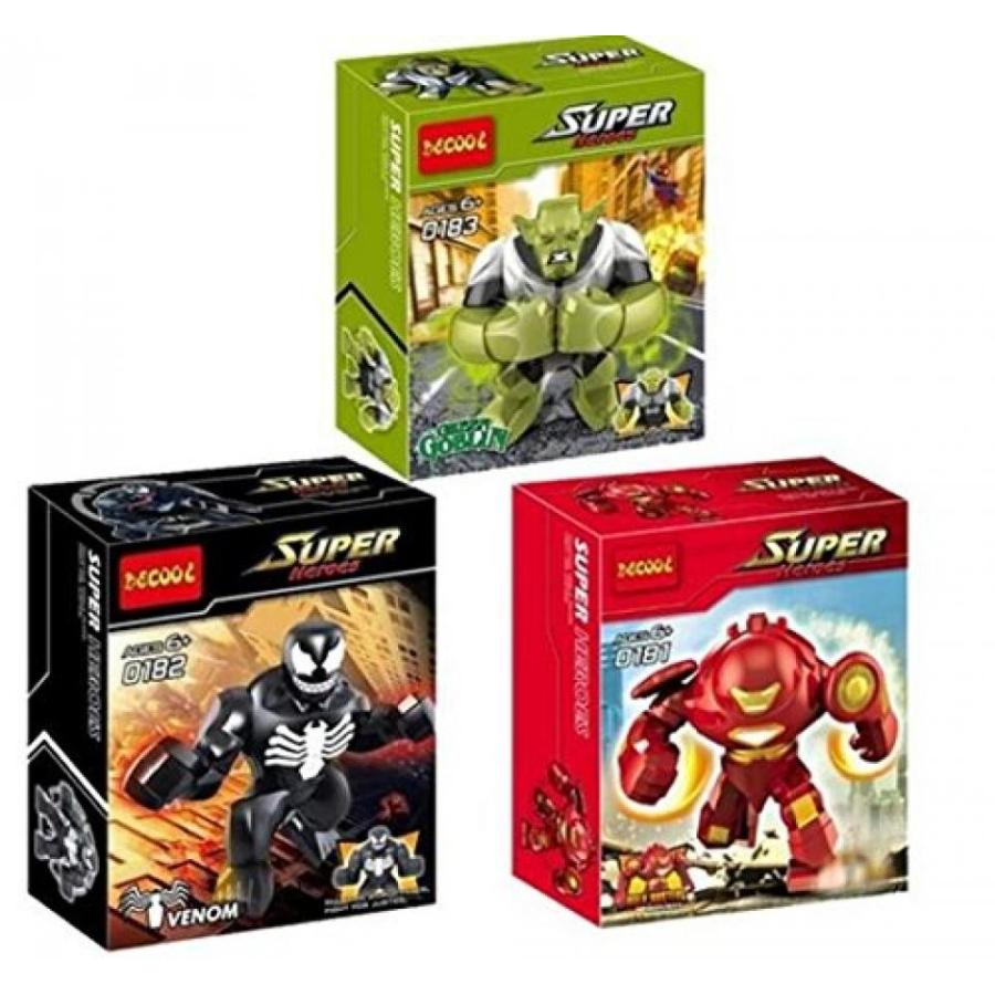 アベンジャーズ おもちゃ フィギュア Decool 0181-0183 Super Heroes Avengers Hulk Buster Venom
