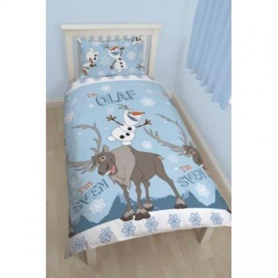 アナと雪の女王 おもちゃ フィギュア Disney Frozen Childrens/Kids Snowman Reversible Twin Quilt Cover Bedding Set 輸入品