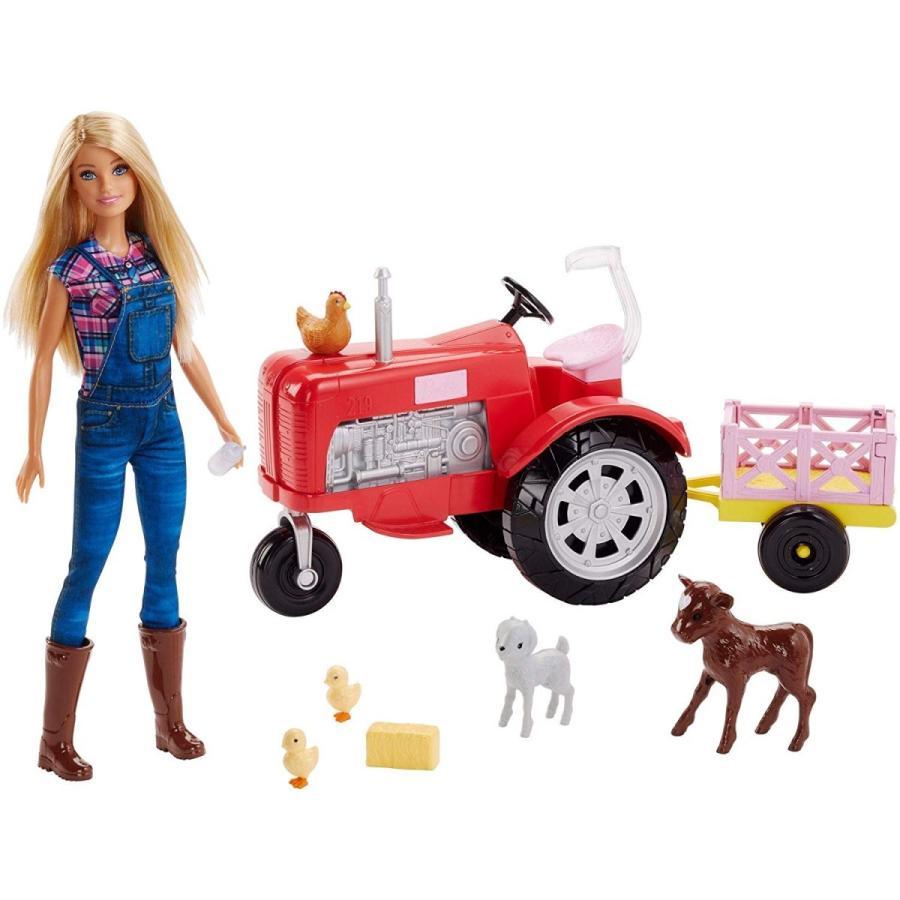 バービー人形 おもちゃ Barbie Doll and Tractor 輸入品