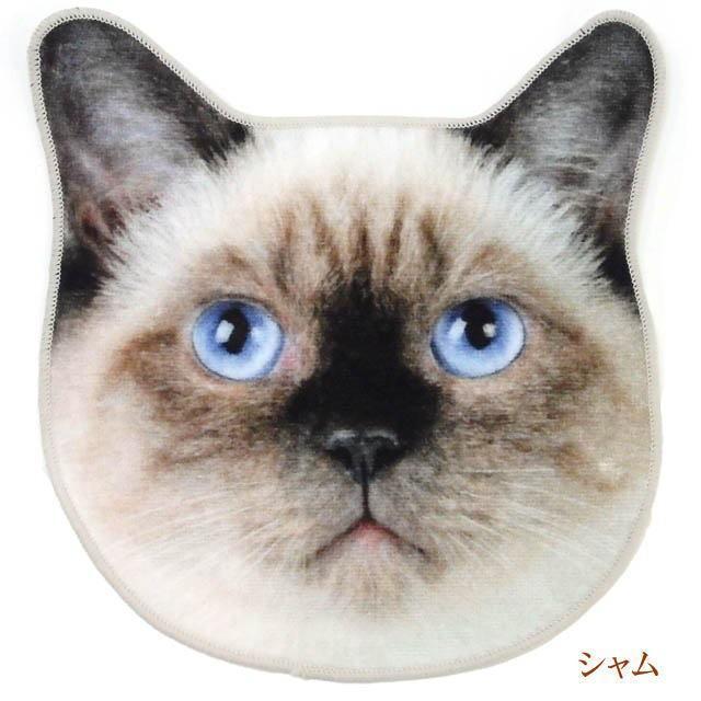 ハンカチ タオル 猫 ハンドタオル ミニタオル リアルモチーフ 猫顔 タオル ネコグッズ かわいい Heming's 猫グッズ 猫雑貨 ねこ雑貨|osyarehime|04