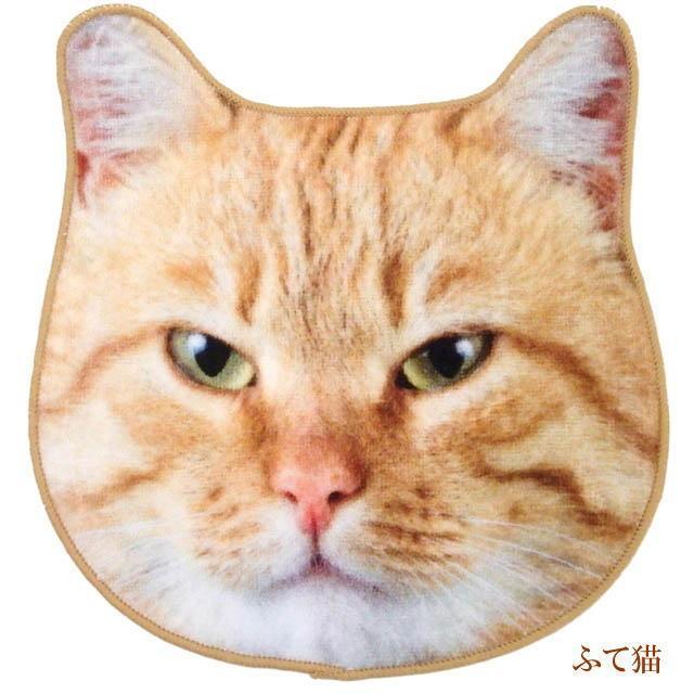 ハンカチ タオル 猫 ハンドタオル ミニタオル リアルモチーフ 猫顔 タオル ネコグッズ かわいい Heming's 猫グッズ 猫雑貨 ねこ雑貨|osyarehime|05