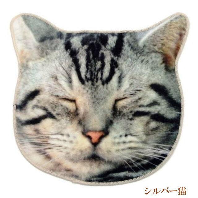 ハンカチ タオル 猫 ハンドタオル ミニタオル リアルモチーフ 猫顔 タオル ネコグッズ かわいい Heming's 猫グッズ 猫雑貨 ねこ雑貨|osyarehime|09