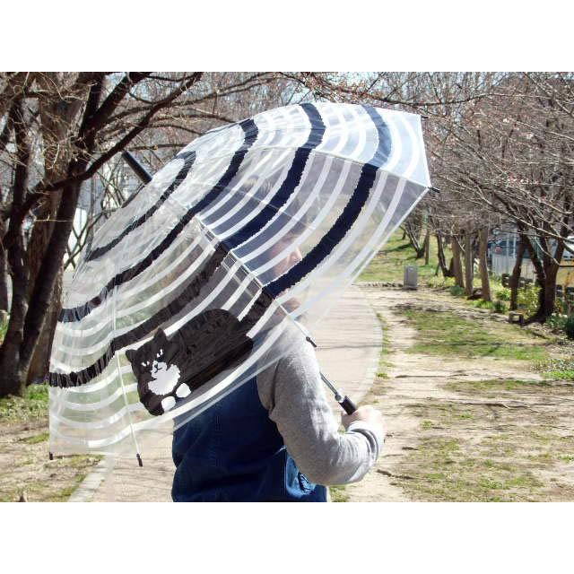 ビニール傘 うずまき猫 長傘 雨傘 自動式 ワンタッチ傘 ジャンプ傘 アンブレラ おしゃれ(猫グッズ 猫雑貨 猫 グッズ 雑貨 ねこ ネコ 猫柄 小物) osyarehime 05