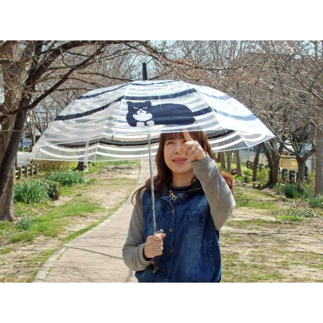 ビニール傘 うずまき猫 長傘 雨傘 自動式 ワンタッチ傘 ジャンプ傘 アンブレラ おしゃれ(猫グッズ 猫雑貨 猫 グッズ 雑貨 ねこ ネコ 猫柄 小物) osyarehime 07