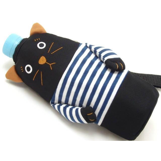 ペットボトルケース ペットボトル カバー 保冷 シャロン 500ml用 黒猫 水筒 ドリンク 保冷 おしゃれ(猫グッズ 猫雑貨 猫 グッズ 雑貨 ねこ ネコ 猫柄 小物)|osyarehime|04