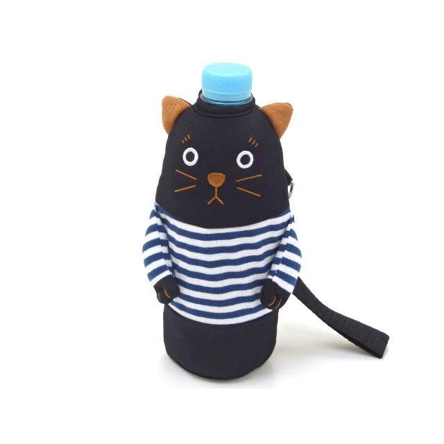 ペットボトルケース ペットボトル カバー 保冷 シャロン 500ml用 黒猫 水筒 ドリンク 保冷 おしゃれ(猫グッズ 猫雑貨 猫 グッズ 雑貨 ねこ ネコ 猫柄 小物)|osyarehime|05