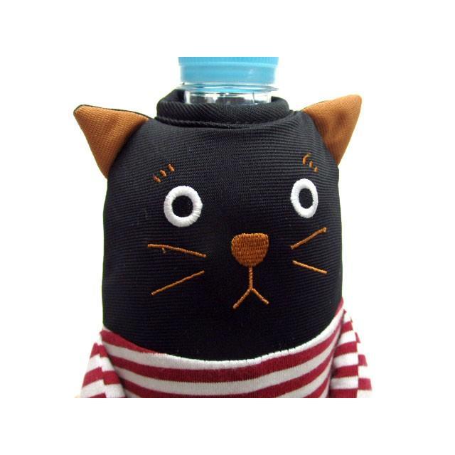 ペットボトルケース ペットボトル カバー 保冷 シャロン 500ml用 黒猫 水筒 ドリンク 保冷 おしゃれ(猫グッズ 猫雑貨 猫 グッズ 雑貨 ねこ ネコ 猫柄 小物)|osyarehime|06