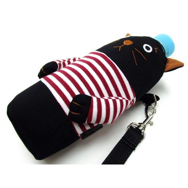 ペットボトルケース ペットボトル カバー 保冷 シャロン 500ml用 黒猫 水筒 ドリンク 保冷 おしゃれ(猫グッズ 猫雑貨 猫 グッズ 雑貨 ねこ ネコ 猫柄 小物)|osyarehime|07