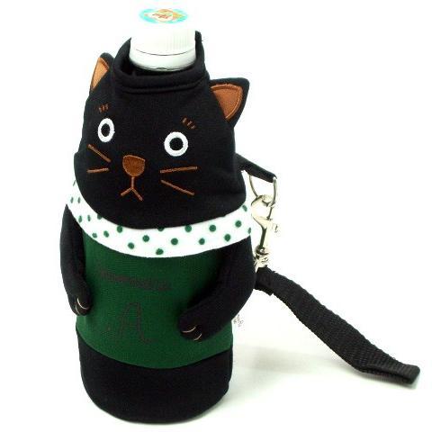 ペットボトルケース ペットボトル カバー 保冷 シャロン 500ml用 黒猫 水筒 ドリンク 保冷 おしゃれ(猫グッズ 猫雑貨 猫 グッズ 雑貨 ねこ ネコ 猫柄 小物)|osyarehime|08