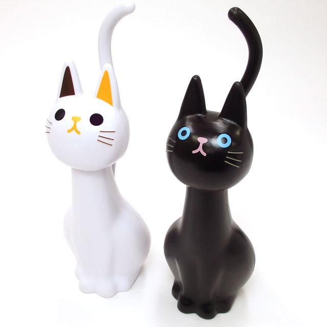 トイレブラシ 猫  おしゃれ かわいい トイレグッズ 掃除用具 黒猫 白猫 ねこのしっぽの物語 猫グッズ 猫雑貨 グッズ 雑貨 ねこ ネコ 猫柄 小物 osyarehime 06