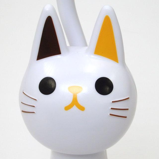 トイレブラシ 猫  おしゃれ かわいい トイレグッズ 掃除用具 黒猫 白猫 ねこのしっぽの物語 猫グッズ 猫雑貨 グッズ 雑貨 ねこ ネコ 猫柄 小物 osyarehime 08