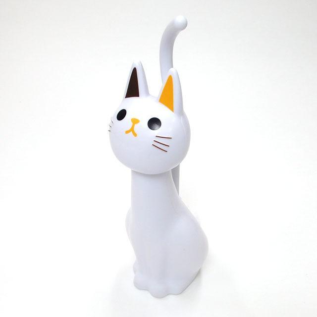 トイレブラシ 猫  おしゃれ かわいい トイレグッズ 掃除用具 黒猫 白猫 ねこのしっぽの物語 猫グッズ 猫雑貨 グッズ 雑貨 ねこ ネコ 猫柄 小物 osyarehime 09