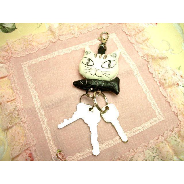 キーホルダー リール レディース おしゃれ かわいい ノアファミリー ねこ 小物 ネコ 猫柄 猫雑貨 猫グッズ noafamily 可愛い|osyarehime|03