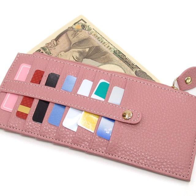 カードケース メール便送料無料 薄型 大容量 レディース メンズ スリム クレジットカード 長財布 セール おしゃれ かわいい osyarehime 07