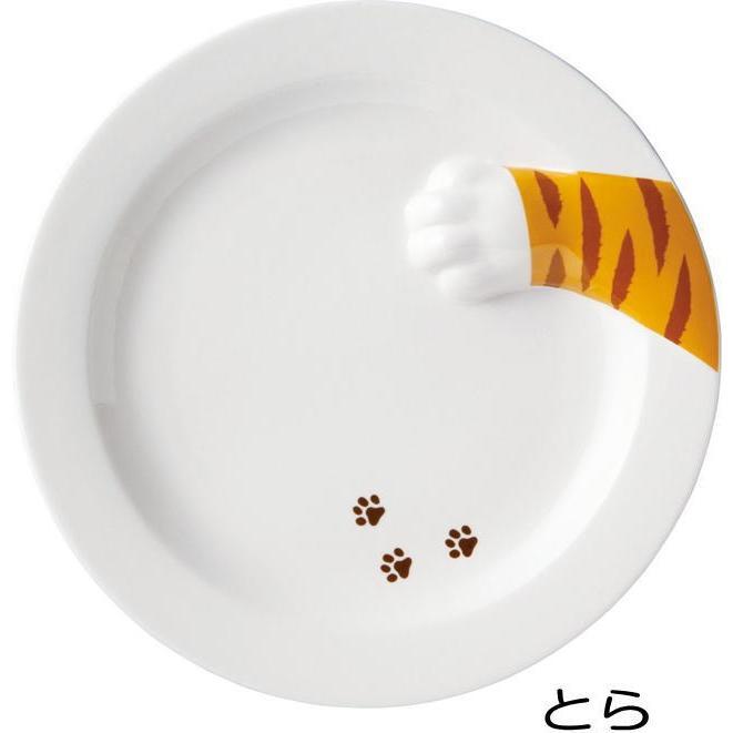 皿 丸皿 どろぼう 猫 プレート トラネコ ラウンド サンアート 肉球 陶器 猫雑貨 ねこ ネコ 猫柄 猫雑貨 猫グッズ レディース かわいい おしゃれ ギフト包装無料|osyarehime|02