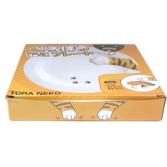 皿 丸皿 どろぼう 猫 プレート トラネコ ラウンド サンアート 肉球 陶器 猫雑貨 ねこ ネコ 猫柄 猫雑貨 猫グッズ レディース かわいい おしゃれ ギフト包装無料|osyarehime|03