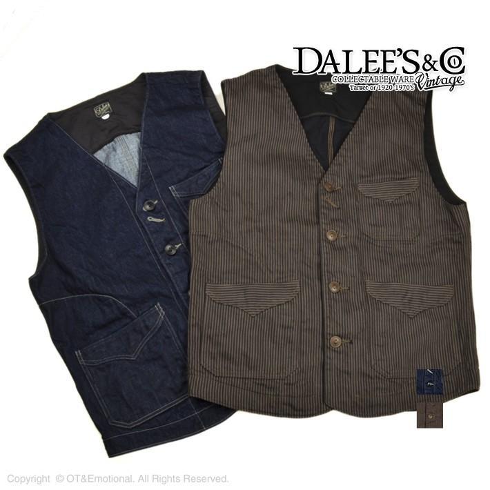 ダリーズ&コー(DALEES&CO) 20'S WORK VEST MAXWELL|ot-emens|02