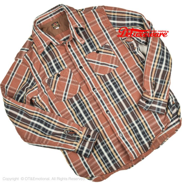 デラックスウエア(DELUXEWARE)ヘビーネルシャツ HV-41|ot-emens
