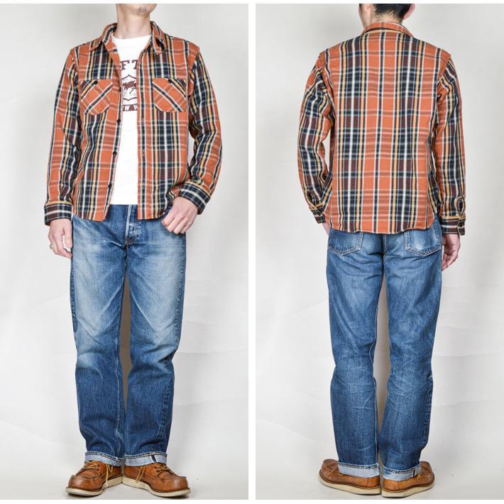 デラックスウエア(DELUXEWARE)ヘビーネルシャツ HV-41|ot-emens|04