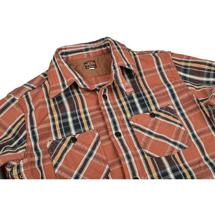 デラックスウエア(DELUXEWARE)ヘビーネルシャツ HV-41|ot-emens|05