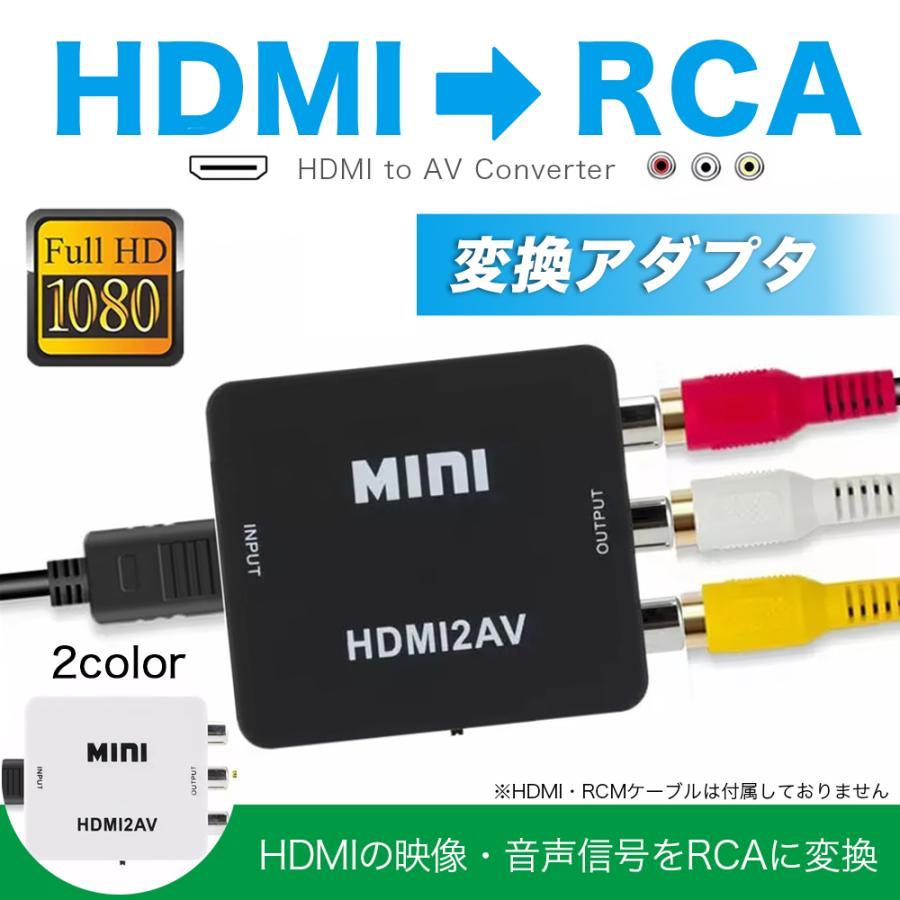 HDMI 上質 変換 to RCA アダプタ コンバーター TV カーナビ 大好評です ゲーム iPhone USB給電 分配器 切替 コンポジット