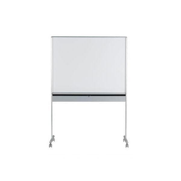 馬印 UDミーティングボード 暗線入 片面ホワイトボード 収納ボックス付 W1217×D557×H1750 UDMT34