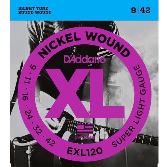 エレキギター弦 ダダリオ D#039;Addario 超特価 上等 EXL120