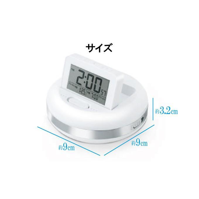 振動目覚まし時計 振動アラームクロック 強力振動式目覚し時計 デジタル表示 バックライト スヌーズ機能付き 起きれる|otasuke|05
