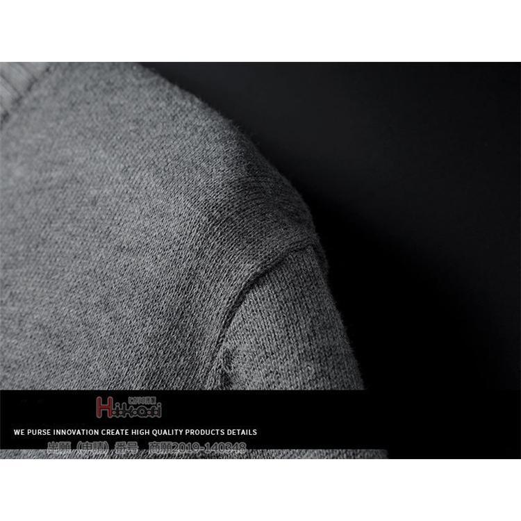 セーター メンズ vネック 無地 ニット 長袖 スクール 学生 ニットセーター 綿100% 無地 おしゃれ 秋冬|otasukemann|15