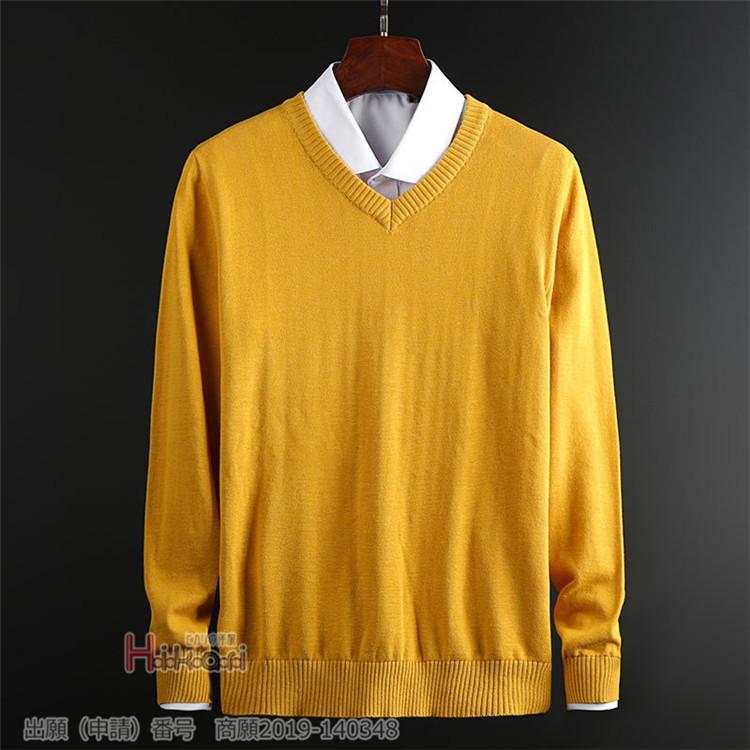 セーター メンズ vネック 無地 ニット 長袖 スクール 学生 ニットセーター 綿100% 無地 おしゃれ 秋冬|otasukemann|10