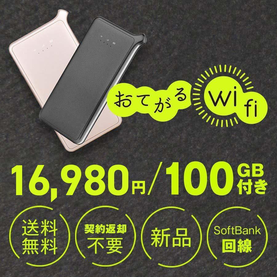 爆買い新作 豪華な 100GB通信付モバイルルーターおてがるWiFi