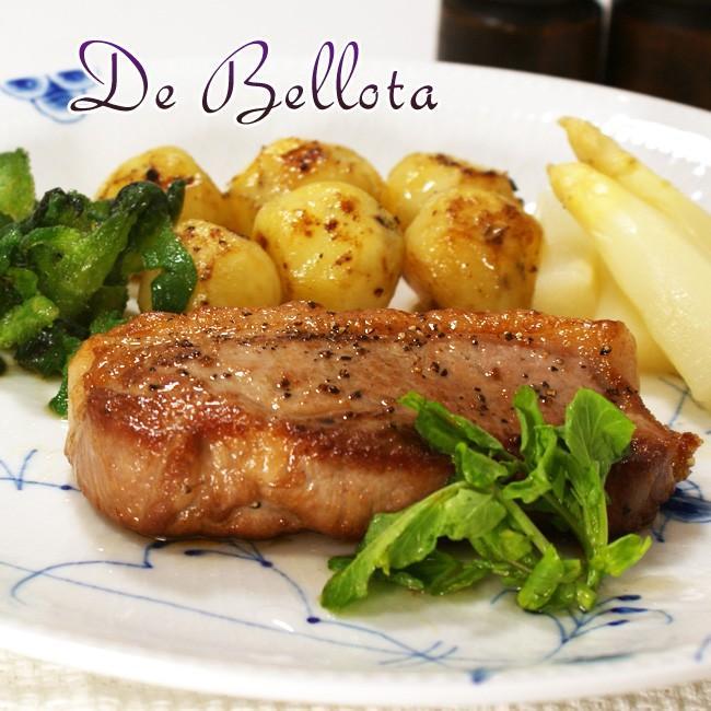 豚肉 イベリコ豚 ベジョータ ロース 約60g×2枚 スペイン産 豚 ロース肉 ポーション スライス ステーキ 冷凍 pork otokonodaidokoro