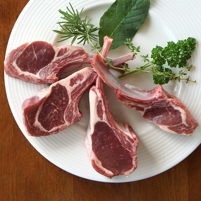 ラム肉 仔羊肉 放牧 骨付き ラムチョップ 骨付きチャップ 約260g オーストラリア産 グラスフェッド 子羊肉 lamb 冷凍