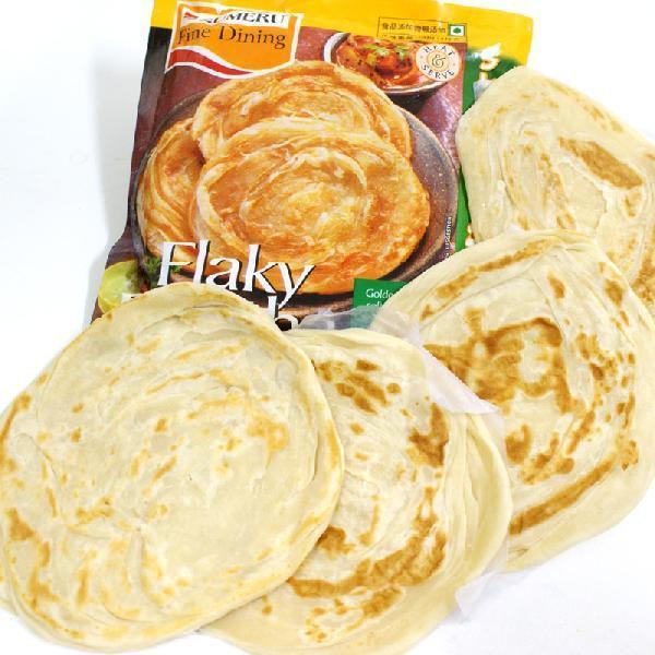 パラタ 半焼成 パン クロワッサンとナンの良いとこ取り 4枚入り400g マート ハイクオリティ インドのパン