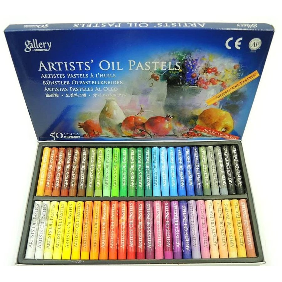 画材 オイル パステル 48色 50本セット OIL の世界へ 並行輸入品 めくるめく PASTELS お中元 ARTIST#039;S